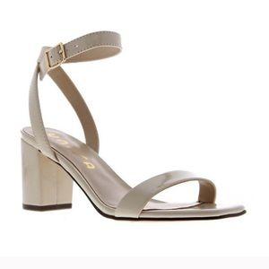 Unisa | BNIB Ankle-Strap Patent Beige Sandals